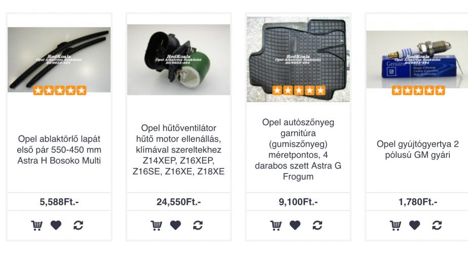 Opel Meriva alkatrész webshop