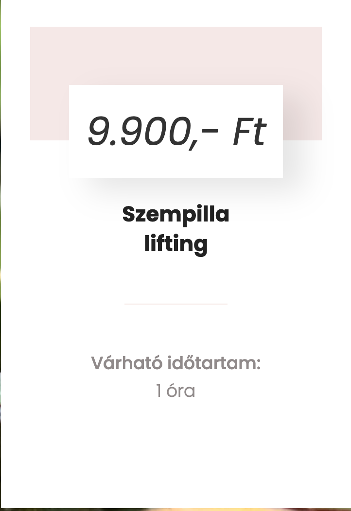 szempilla lifting